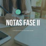 Notas de la prueba escrita Becas 2019