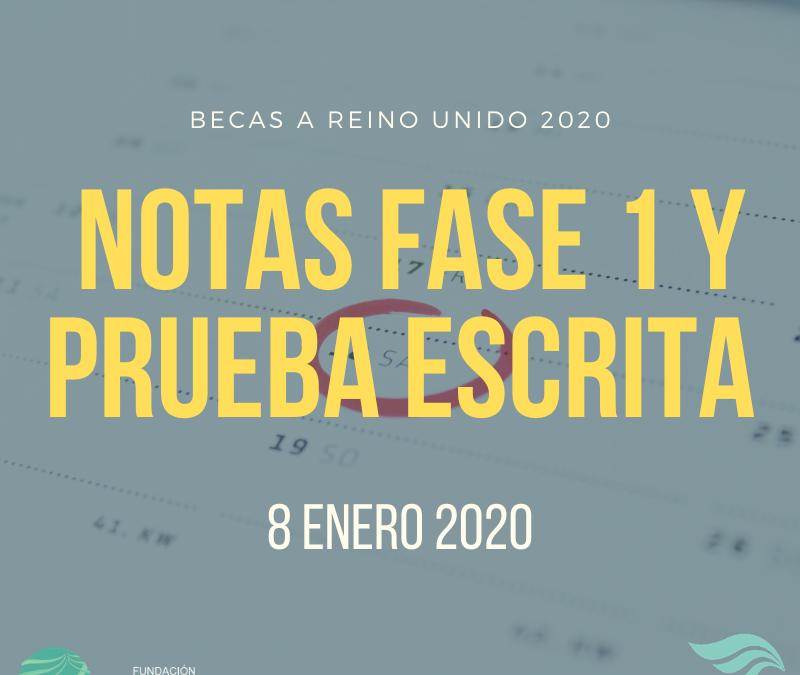 Notas fase 1 y fase 2 del programa Becas 2020
